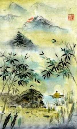 Having Visited Qui Baishi Digital Print by Rae, Nan,Impressionism