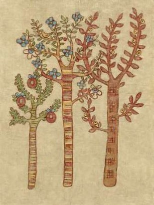 Linen Trees I Digital Print by Zarris, Chariklia,Folk