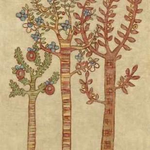 Linen Trees I Digital Print by Zarris, Chariklia,Folk