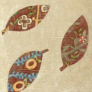 Linen Leaves I Digital Print by Zarris, Chariklia,Decorative