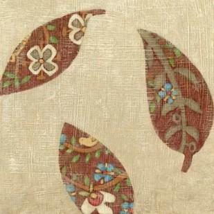 Linen Leaves II Digital Print by Zarris, Chariklia,Decorative