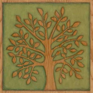 Arbor Woodcut I Digital Print by Meagher, Megan,Decorative, Folk