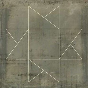Geometric Blueprint II Digital Print by Vision Studio,Geometrical