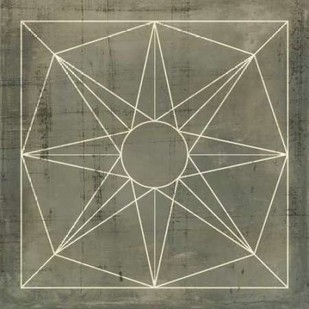 Geometric Blueprint VII Digital Print by Vision Studio,Geometrical