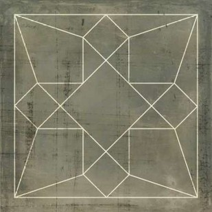 Geometric Blueprint IX Digital Print by Vision Studio,Geometrical