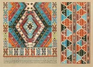 Turkish Carpet Design Digital Print by J.B. Waring,Decorative