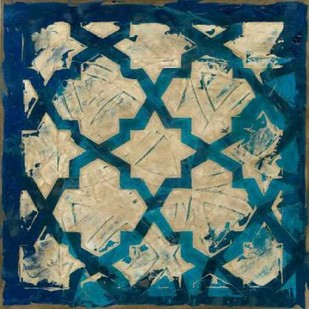Stained Glass Indigo I Digital Print by Meagher, Megan,Decorative