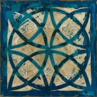Stained Glass Indigo IV Digital Print by Meagher, Megan,Decorative