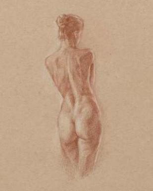 Standing Figure Study II Digital Print by Harper, Ethan,Illustration