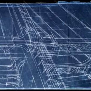Bridge Blueprint I Digital Print by Harper, Ethan,Decorative