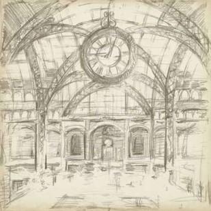 Interior Architectural Study I Digital Print by Harper, Ethan,Illustration