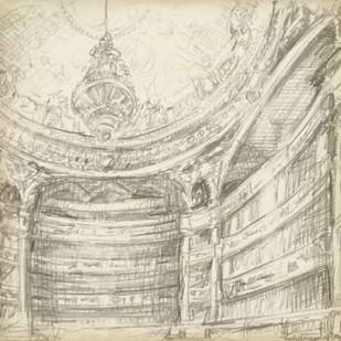 Interior Architectural Study II Digital Print by Harper, Ethan,Illustration