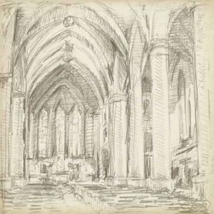 Interior Architectural Study III Digital Print by Harper, Ethan,Illustration