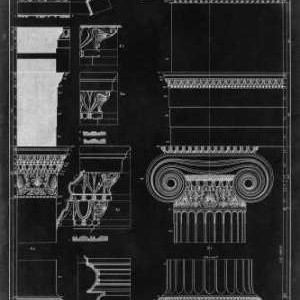 Graphic Architecture II Digital Print by Vision Studio,Decorative