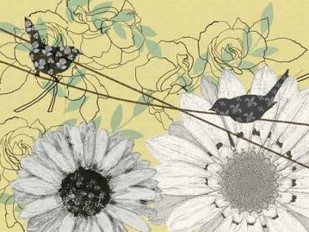 Birds On A Wire II Digital Print by Reynolds, Jade,Decorative