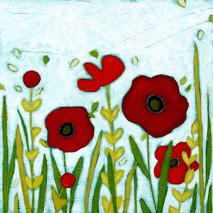 Precious Poppies II Digital Print by Vess, June Erica,Impressionism