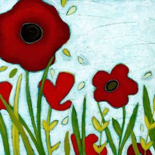 Precious Poppies III Digital Print by Vess, June Erica,Impressionism