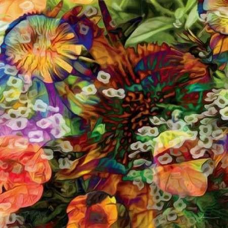 Embellished Eden Tile I Digital Print by Burghardt, James,Realism