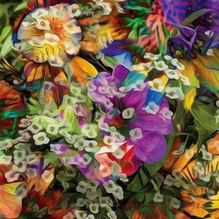 Embellished Eden Tile II Digital Print by Burghardt, James,Impressionism