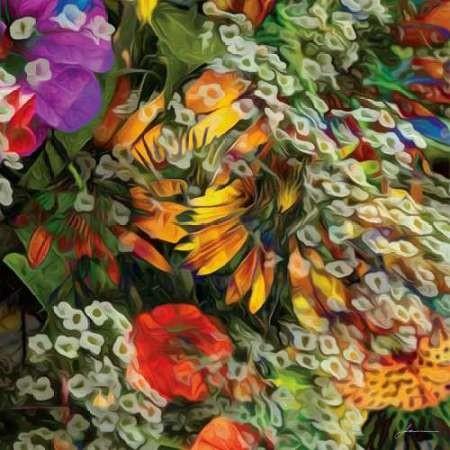 Embellished Eden Tile IV Digital Print by Burghardt, James,Impressionism