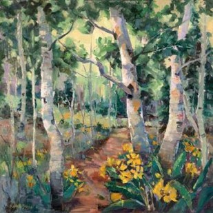 Four Seasons Aspens II Digital Print by Oleson, Nanette,Impressionism