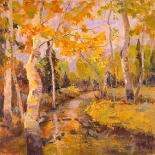 Four Seasons Aspens III Digital Print by Oleson, Nanette,Impressionism