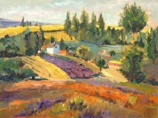 Vineyard Tapestry II Digital Print by Oleson, Nanette,Impressionism