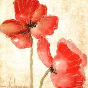 Vivid Red Poppies IV Digital Print by Herrera, Leticia,Impressionism