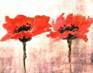 Vivid Red Poppies V Digital Print by Herrera, Leticia,Impressionism