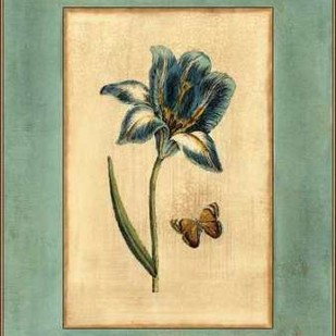Crackled Spa Blue Tulip I Digital Print by Vision Studio,Decorative