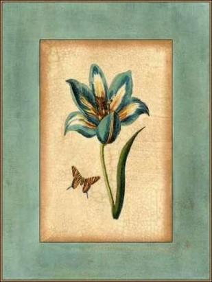 Crackled Spa Blue Tulip III Digital Print by Vision Studio,Decorative
