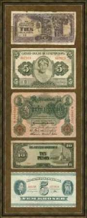 Foreign Currency Panel I Digital Print by Unknown,Decorative