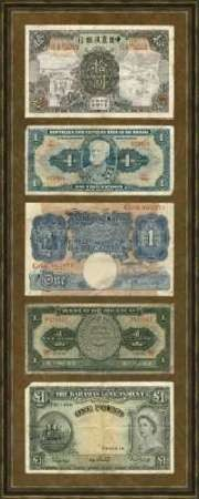 Foreign Currency Panel II Digital Print by Unknown,Decorative