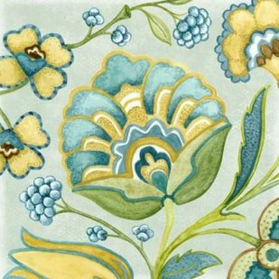Decorative Golden Bloom III Digital Print by Wright, Sydney,Decorative