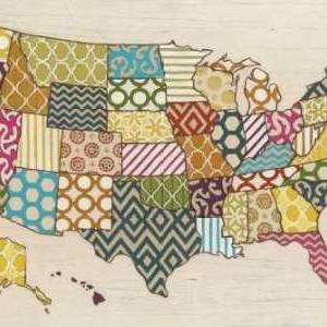 United Patterns Digital Print by Vess, June Erica,Decorative, Decorative