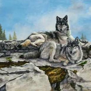 Mountain Morning Digital Print by Mock, Carolyn,Impressionism