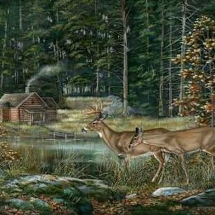 Twilight Sighting Digital Print by Mock, Carolyn,Impressionism