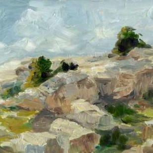Impasto Mountainside I Digital Print by Harper, Ethan,Impressionism