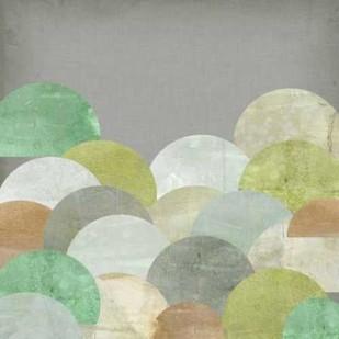 Scalloped Landscape II Digital Print by Goldberger, Jennifer,Abstract
