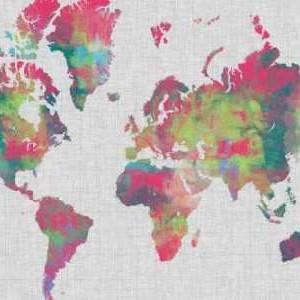 Impasto Map of the World Digital Print by Goldberger, Jennifer,Decorative