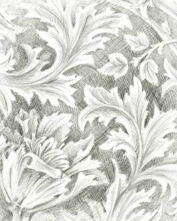 Floral Pattern Sketch II Digital Print by Harper, Ethan,Illustration