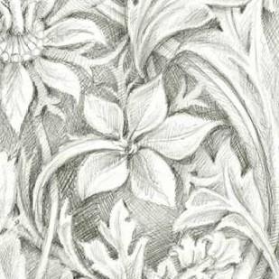 Floral Pattern Sketch III Digital Print by Harper, Ethan,Illustration