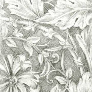 Floral Pattern Sketch IV Digital Print by Harper, Ethan,Illustration