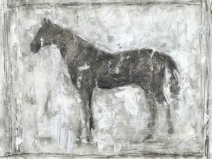 Equine Silhouette II Digital Print by Harper, Ethan,Impressionism