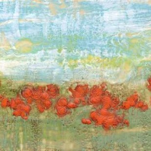 Coral Poppies II Digital Print by Goldberger, Jennifer,Impressionism