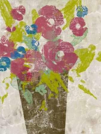 Bouquet Collage I Digital Print by Goldberger, Jennifer,Impressionism