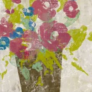Bouquet Collage I Digital Print by Goldberger, Jennifer,Impressionism