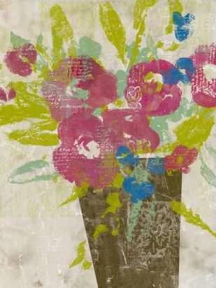 Bouquet Collage II Digital Print by Goldberger, Jennifer,Impressionism