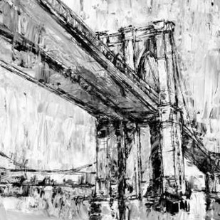 Iconic Suspension Bridge II Digital Print by Harper, Ethan,Impressionism