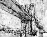 Iconic Suspension Bridge II Digital Print by Harper, Ethan,Impressionism